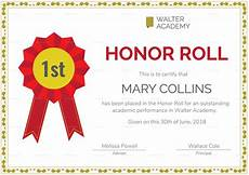 Honor Roll Certificate Templates Honor Roll Certificate Design Template In Psd Word