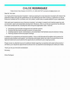 Executive Administrative Assistant Cover Letter Sample Leading Professional Executive Assistant Cover Letter
