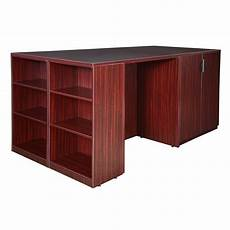 legacy stand up 2 storage cabinet 2 desk with