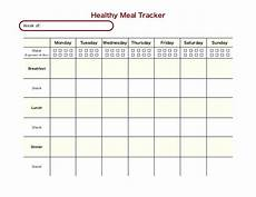 Meal Tracking Worksheet Healthy Meal Tracker
