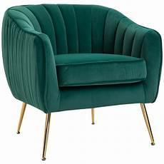 Homcom Velvet Fabric Dining Chair Single Sofa Armchair Home by Homcom Velvet Look Polyester Upholstered Decedent Armchair
