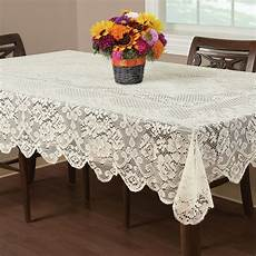 plastic table clothes rectangular packers buckingham lace tablecloth ivory 60x102 quot wedding floral
