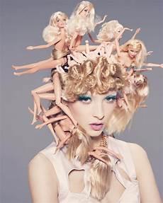 hair art hairstylist creates eye catching hair using