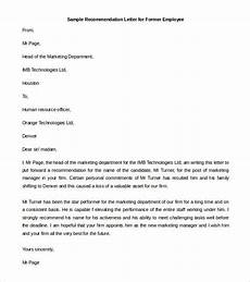 Letter Of Recommendation From Former Employer 10 Recommendation Letter Samples Word Excel Amp Pdf