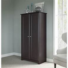 bush furniture cabot storage cabinet with doors in