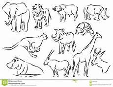 Malvorlagen Kostenlos Tiere Afrika Afrikanische Tiere Stock Abbildung Illustration