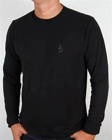 black sleeve shirt luke sleeve t shirt black crew neck middle wicket
