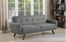 mid century modern grey and walnut sofa bed 360139