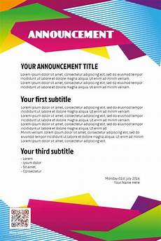Business Announcement Templates Sample Club Announcement Flyer Poster Template Background