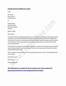 Business Reference Template Business Reference Letter Example