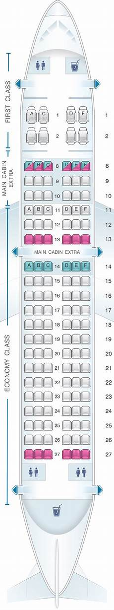 Airbus A319 100 Seating Chart Seat Map American Airlines Airbus A319 Seatmaestro