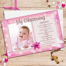 Christening Invitations Girl Personalised Christening Invitations Personalised