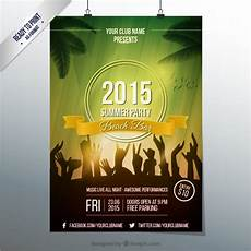 Party Poster Template Summer Party Poster Template Vector Free Download