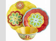 Sunny Floral Melamine Dinnerware
