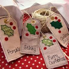 personalised tags sewing projects