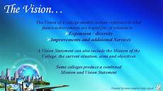 How To Write A Career Vision Statement How To Write A College Vision Statement Youtube