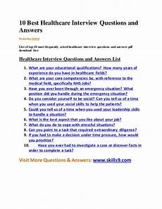 Frequently Asked Interview Questions And Answers 10 Best Healthcare Interview Questions And Answers