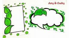 Green Border Design Go Green Border Design On Paper Designs For Front Page