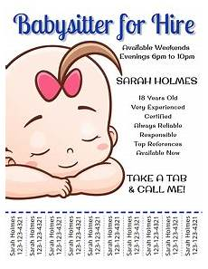 Babysitter Available Ads 260 Babysitting Customizable Design Templates Postermywall