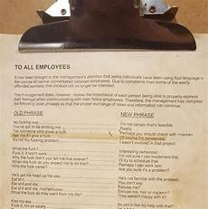 Funny Memos Office Memo Addresses Foul Language In The Work Place The Poke