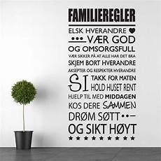 familie familie citater familieregler wallsticker fra kun 287 kr