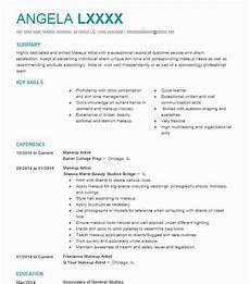 Sample Makeup Artist Resume Makeup Artist Resume Objectives Resume Sample Livecareer