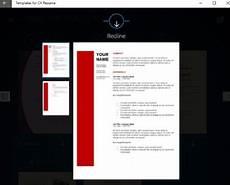 Windows Resume Builder Free Windows 10 Resume Builder App With Preset Resume Cv