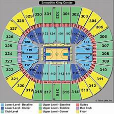 Landers Center Seating Chart Map Smoothie King Center Tickets Events Seating Chart
