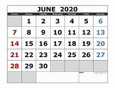 June 2020 Calendar Printable Calendar Page 5 Of 64 Free Printable 2020