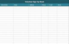 Volunteer Sign Up Sheet Free Sign Up Sheet Template Excel And Word Excel Tmp