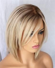 kurzhaarfrisuren blond bob indian ombre human hair bob wig for white