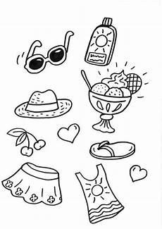 Malvorlagen Urlaub Vorlage Kostenlose Malvorlage Sommer Strandsachen Zum Ausmalen