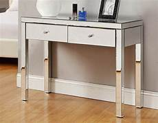 reflections mirrored 2 drawer dressing table console
