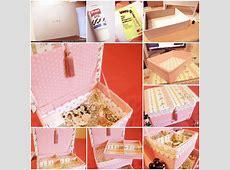 DIY Vintage Floral Cardboard Jewelry Box