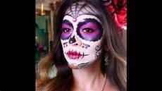 sugar skull makeup tutorial dia de los muertos
