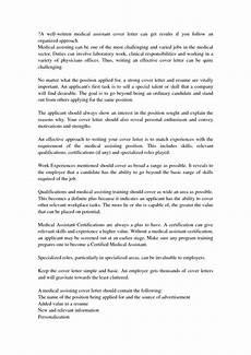 Essay On Medical Assistant Cover Letter Medical Assistant Cover Letter With No