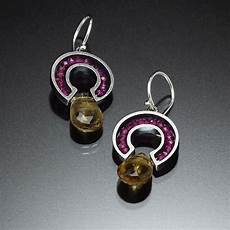 Kinzig Design Jewelry Circle Of Stones Earrings By Susan Kinzig Silver And