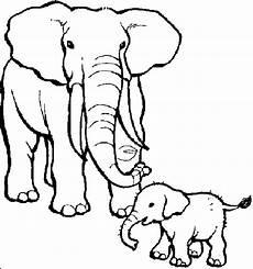 print teaching through elephant coloring