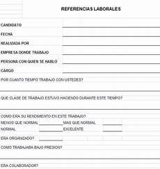 Formatos Para Referencias Laborales Gesti 243 N De Recursos Humanos Formato Para Toma De
