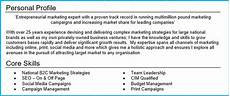 Cvs Examples For Personal Profile 25 Cv Profile Examples 5 Tips To Get Noticed By