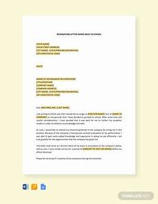 Resignation Letter Going Back To School Free Resignation Letter Template For Career Growth