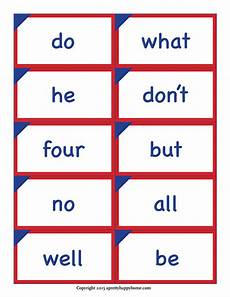 Flash Cards Words Kindergarten Sight Word Flash Cards Free Printable A