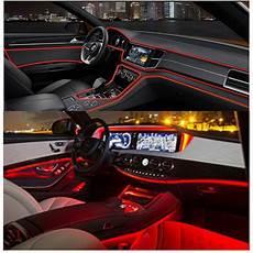 Car Interior Led Lights Red 4m Red Led Fiber Optic Ambient Light Car Interior Decor