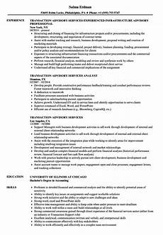 Big 4 Resume Sample Transaction Advisory Services Resume Samples Velvet Jobs