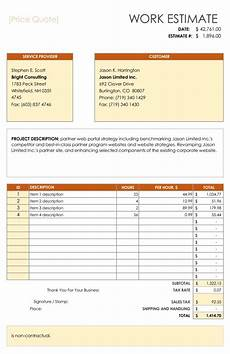 Free Quote Template Word 12 Price Quote Templates Free Quotation Templates