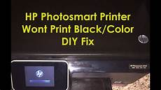 Hp Printer Not Printing Black Hp Photosmart 6525 6520 Printer Not Printing Black Ink