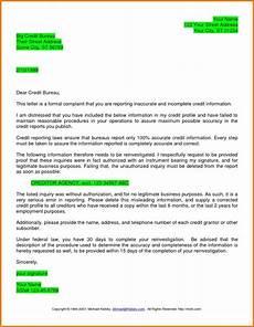 Credit Repair Letters Dispute Letter To Credit Bureau Template Printable