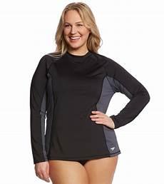 plus size rash guard for sleeve speedo s sleeve plus size rashguard at