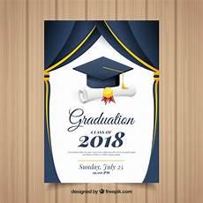 Design Graduation Invitations Online Free Classic Graduation Invitation Template With Flat Design