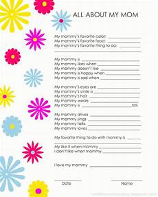 Mom Questionaire Printables Freebie While He Was Napping